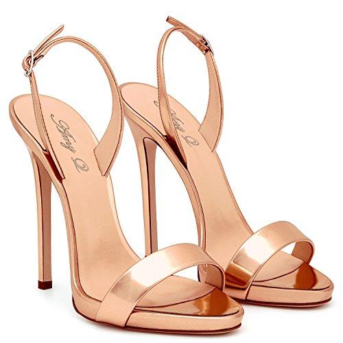 Zapatos de Mujer PU de Verano Confort Sandalias Zapatos para Caminar Tacón de Aguja Puntiagudo Talón Boda/Fiesta y Noche/Vestido Trabajo Formal de Negocios Boda Un