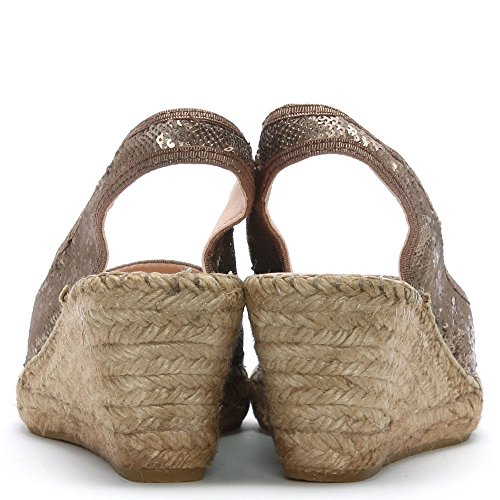 Bronze Espadrilles Daniel DF Shimmer Bronze By Wedge Sequin UwqT0Yw