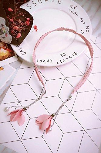 Generic elegant_ retro _fine hair hoop_card_issuance_date_of pearl _leave_Korea_ flower earrings Earring eardrop _made_with Date Flowers Earrings
