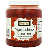 Daily Chef Maraschino Cherries with Stems 74 Ounce