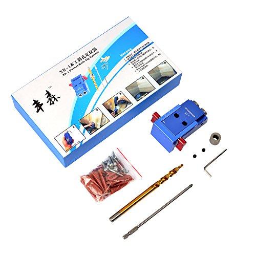 SHUOGOU Mini Pocket Slant Hole Jig Kit + 9.5mm Step Drilling Bit Dowelling Jig Wood Work Tool Set by SHUOGOU (Image #7)