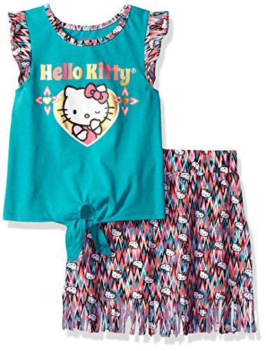 Hello Kitty Little Girls' Skirt Set, Blue, 6X