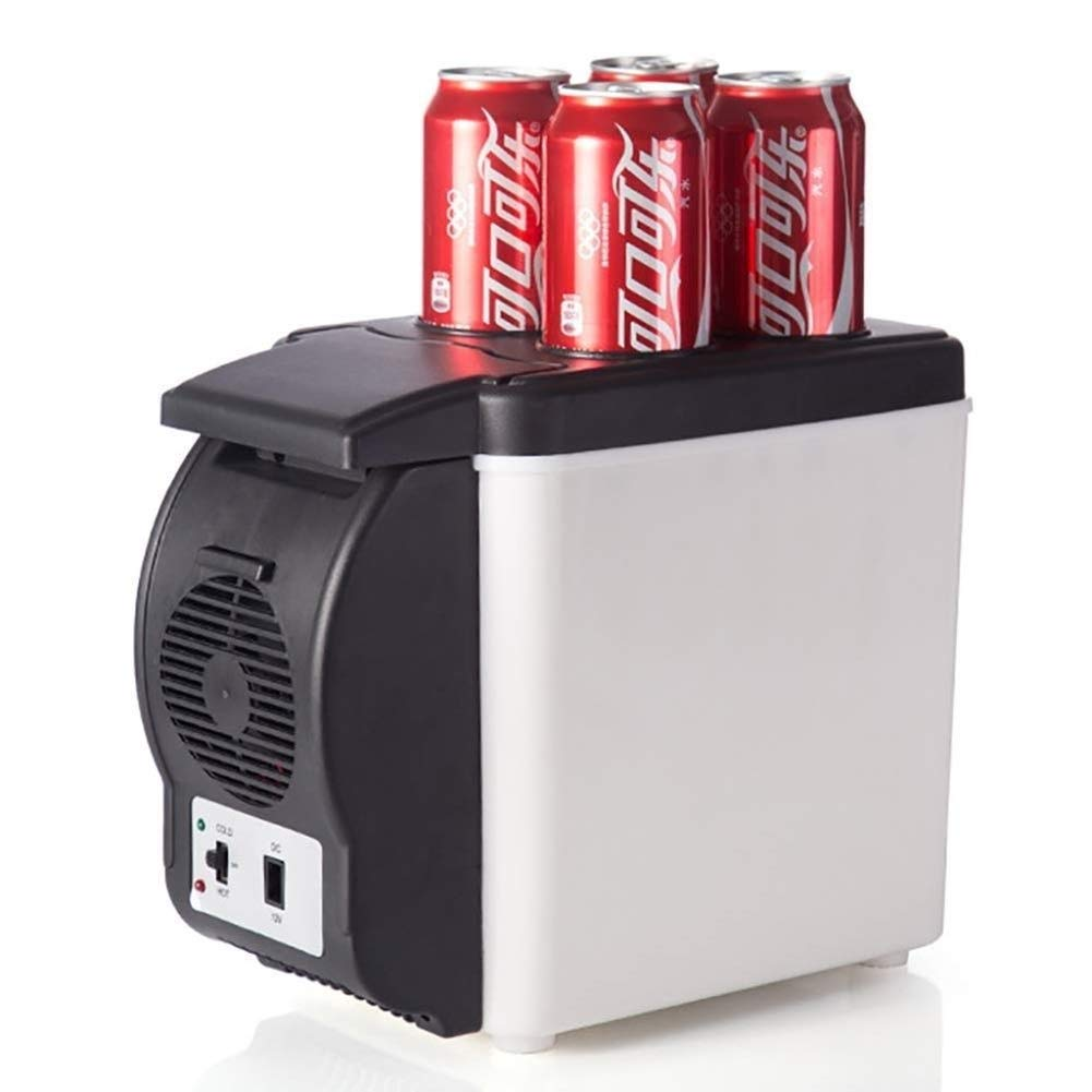 JGWJJ Portable Electric Cooler Fridge/Food Warmer, 6L Capacity   Personal Thermoelectric Dual Cooling Warming Digital Plug in Refrigerator for Car, Travel, Beach, Office by JGWJJ
