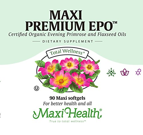 Maxi Health Premium EPO - Evening Primrose with Flax Seed Oil - with Omega-3-180 Softgels - Kosher by Maxi Health (Image #4)
