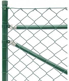 pro.tec] Maschendrahtzaun Komplettset grün verzinkt (1,5m x 25m ...