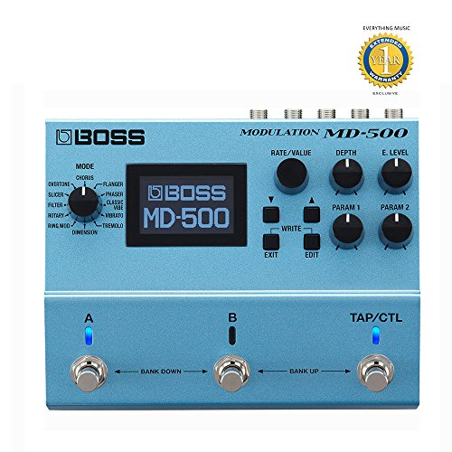 Boss MD-500 Modulation Multi-Effects Pedal with 1 Year EverythingMusic Extended Warranty ()