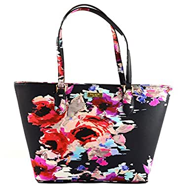 Kate Spade Laurel Way Printed Small Dally Shoulder Bag Tote Purse Handbag, Blurry Floral