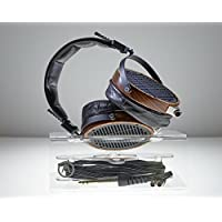 Display version stand to exhibit and offer extensive protections to headphone. No hang; no stretch; least leather wearout; optional cord reel; broad compatibility; more choices of pose; handcraft make