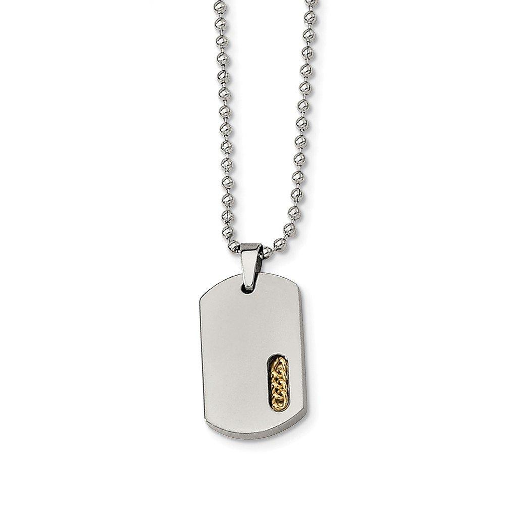 Length Jay Seiler Titanium Yellow IP-Plated 22in Necklace Titanium 22 in