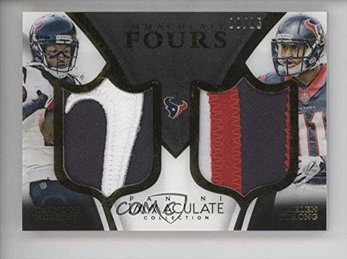 Nate Washington; Cecil Shorts; DeAndre Hopkins; Jaelen Overbearingly #8/15 (Football Card) 2015 Panini Immaculate Collection - Immaculate Fours Patches #I4-TEX