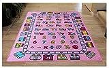 Masada Rugs Kids Area Rug Design ABCD Fun Girls Pink (5 Feet X 7 Feet)