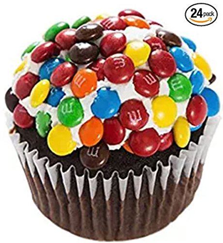 M&M's Mini-Cupcakes - Dessert - Chocolate Cake - 24 Pack - Baked Fresh Day of Order by House of Cupcakes (Image #1)