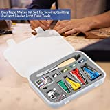 Fabric Bias Tape Maker Folder Kit for Sewing Awl