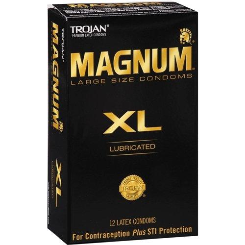 Trojan Magnum XL Lubricated Latex Condoms-12 ct (Quantity of 2)