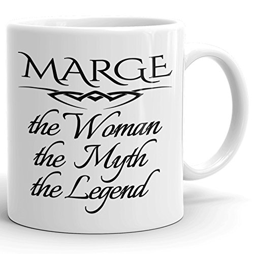 Best Personalized Womens Gift! The Woman the Myth the Legend - Coffee Mug Cup for Mom Girlfriend Wife Grandma Sister in the Morning or the Office - M Set 2