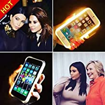PRISTINE TECH #1 BEST 2016 Samsung Galaxy S 7 LED Selfie Phone Case - THE SMARTPHONE CASE THAT LIGHTS UP YOUR FACE  (Gold)