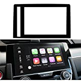 Honda Civic 2016 2017 7 inch Screen Protector Glass,LFOTPP Silk Print Tempered Glass Screen Protector, MXO Compatible with the EX, EX-L, EX-T, and Touring, HD, Scratch Resistant