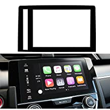 LFOTPP Honda Civic Coupe/Hatchback 2016 2017 7-inch in-Dash Screen Protector, Car Navigation Screen Protective Film,HD Clear Tempered Glass, Compatible with The LX EX EX-T EX-L Touring Si