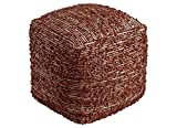 Ashley Furniture Signature Design - Darita Pouf - Comfortable Footrest & Ottoman - Traditional - Brown