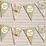 Winnie The Pooh Personalized Children's Birthday Bunting Garland Banner Decoration
