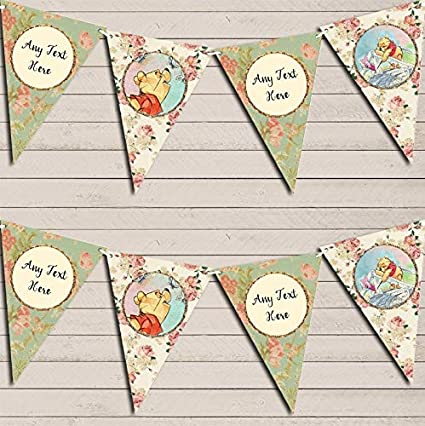 Blue Pink Boy Girl Twins Watercolour Banner Christening Day Christening Bunting