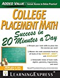 img - for College Placement Math Success in 20 Minutes a Day by Catherine V Jeremko (2013-04-16) book / textbook / text book