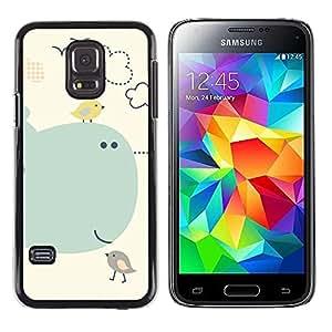 Paccase / SLIM PC / Aliminium Casa Carcasa Funda Case Cover para - Kids Drawing Cute Mother Mom Child - Samsung Galaxy S5 Mini, SM-G800, NOT S5 REGULAR!
