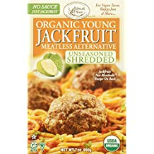 Edward & Sons Organic Young Jackfruit, Meatless Alternative, Unseasoned Shredded, 7 Ounce (Pack Of 6)
