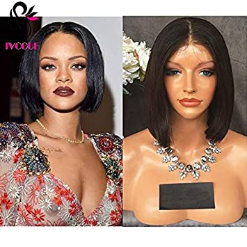 150% Density Short Blunt Bob Full Lace Wigs Cambonian Virgin Human Hair  Front Lace Wigs d7d67ffd4