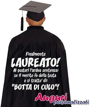 Bombo Mantello Di Laurea Divertente Ed Originale Finalmente