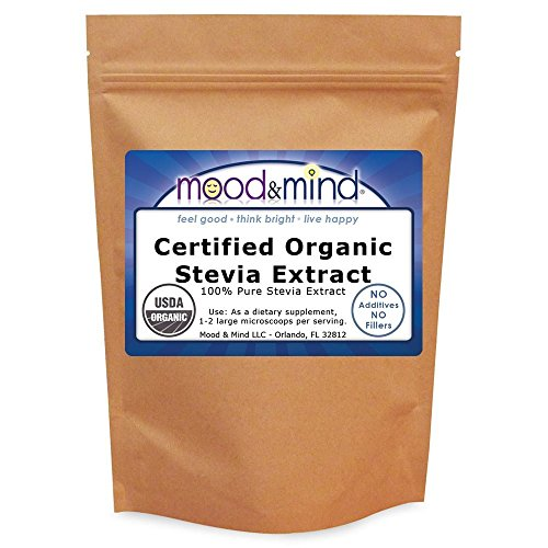(Organic Stevia Extract Powder NO FILLERS! 1 lb/16 oz(448g))