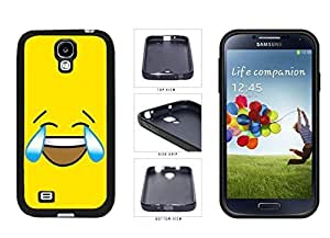 Bright Yellow Laughing Crying Smiley Face TPU RUBBER SILICONE Phone Case Back Cover Samsung Galaxy S4 I9500 by icecream design