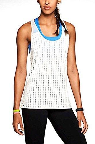 Nike pour femme en treillis et Sheer Training Dri Fit Débardeur Grande Ivoire