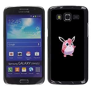 YiPhone /// Prima de resorte delgada de la cubierta del caso de Shell Armor - Meter monstruo rosado lindo - Samsung Galaxy Grand 2