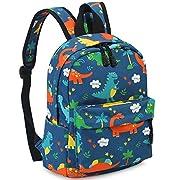 Kid Book Backpack Baby Child School Bag Kindergarten Canvas Daypack Cartoon Coin Purse (Lightblue)