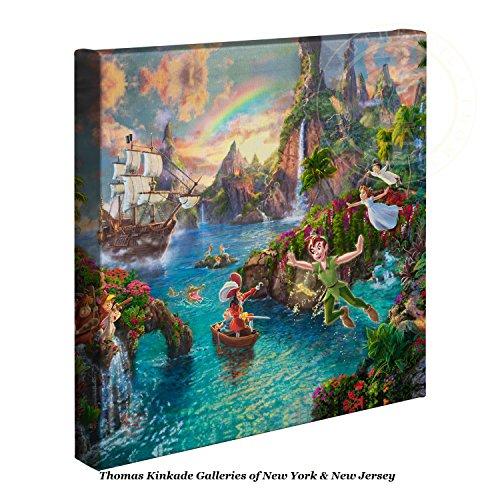 Thomas Kinkade Gallery (Thomas Kinkade Disney Peter Pan's Never Land 14 x 14 Gallery Wrapped Canvas)