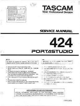 teac tascam 424 portastudio service manual teac amazon com books rh amazon com tascam 48 service manual tascam 112r mkii service manual
