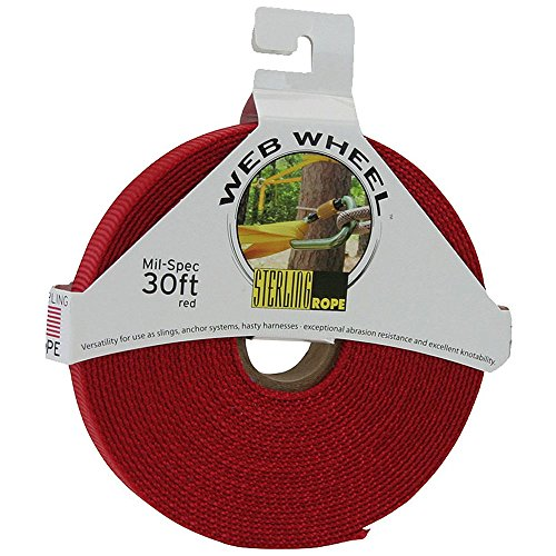 Sterling Ropes STERLING 1'' TechTape Web Wheel 30' Red One Size by Sterling Ropes