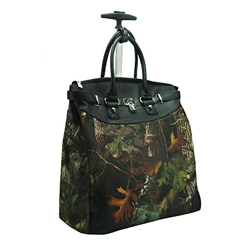Camouflage Rolling 14-inch Laptop Travel Tote Black ()