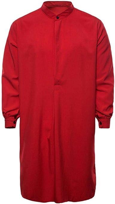 Yvelands Musulmanes Camisas de Los Hombres apuestos Moda ...
