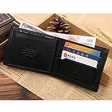 New-Mens-Leather-Bifold-ID-Credit-Card-Holder-Wallet-Purse-Clutch-Handbag-Black