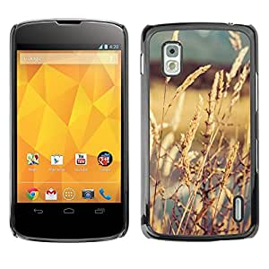 LG Google NEXUS 4 / Mako / E960 , Radio-Star - Cáscara Funda Case Caso De Plástico (Crops In The Sun)
