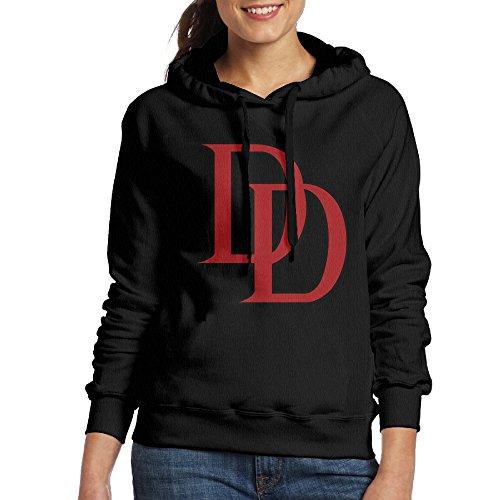 Bekey Women's Daredevil Logo Hoodie Jacket L Black - Daredevil Costume Design