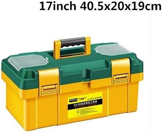 Caja de almacenamiento de herramientas Caja de herramientas grande del hogar Mantenimiento del electricista caja de herramientas multifuncional ABS hardware reparación de automóviles de coches Espesar: Amazon.es: Hogar