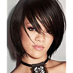 Confidence Human Hair Fringe For Women Front Hair Pieces Clip Fringe Hair Extensions For Girls (Black)