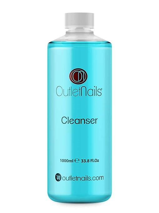 Cleaner 1000ml Azul - Aroma Coco para uñas de gel - Eliminar la capa pegajosa de