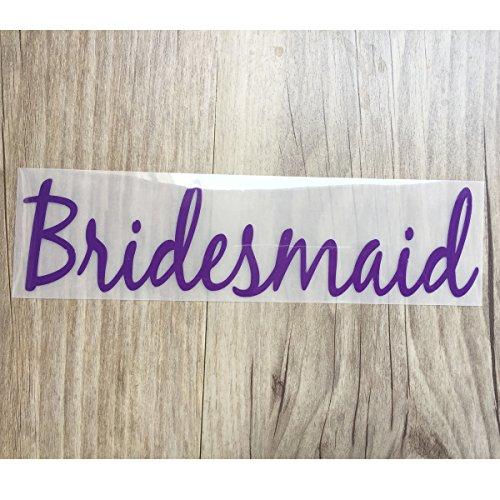 Bridesmaid Iron on transfer vinyl , Heat Transfer for T shirt, tote bag ,Tank top , iron on transfers Bridal Party (Bridal Party Tank Tops compare prices)