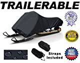 """Durable, Great Quality, Storage and Trailering Snowmobile Sled Cover. Fits: 2 up, Touring style Yamaha, Polaris, Ski Doo, Arctic Cat 125""""-140"""" in length"""