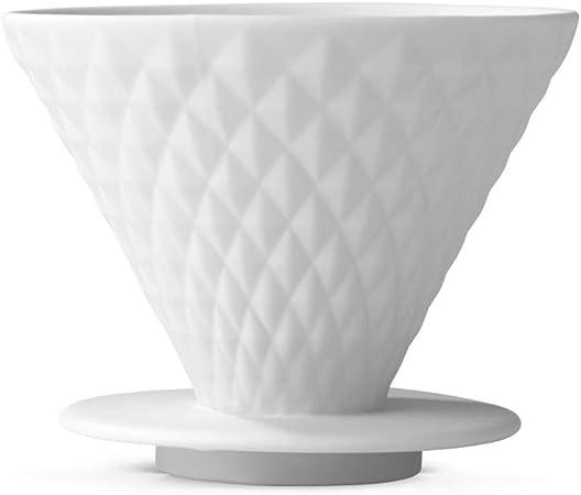 BEEM Pour Over - Filtro de café con Base (4 Tazas, Porcelana, con ...