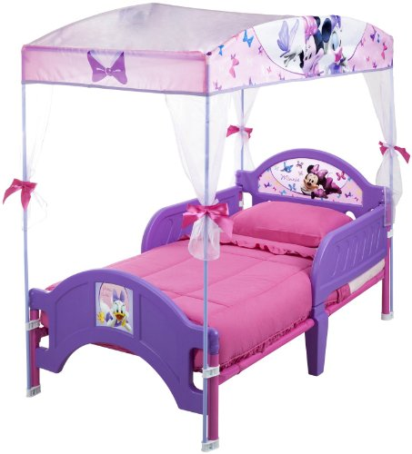lavender-minnie-mouse-canopy-bed